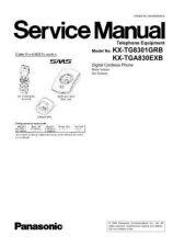 Buy Panasonic KX-TG8301SPB KX-TG8301SPW KX-TGA830EXB KX-TGA830EXW by download Mauritron #