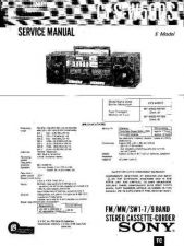 Buy Sony CFS-W480S Service Manual by download Mauritron #239027
