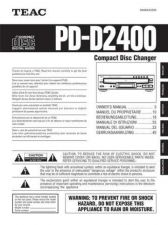 Buy Teac PD-D2400(6L) Service Manual by download Mauritron #223814