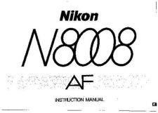 Buy NIKON N8008 Instruction Manual by download Mauritron #266092