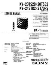Buy Sony KV-20S11 Service Manual. by download Mauritron #242209
