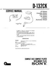 Buy Sony D- 132CK Service Manual by download Mauritron #239365