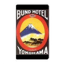 Buy Japan Yokohama Bund Hotel Retro Travel Art Vinyl Magnet