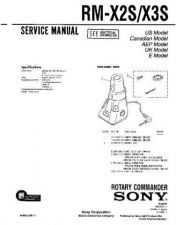 Buy Sony RM-X2S-X3S Service Information by download Mauritron #238009