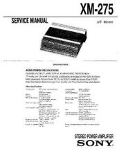 Buy Sony XM-275 Service Manual. by download Mauritron #245975