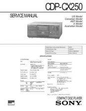 Buy Sony CDP-CX240 Service Manual by download Mauritron #237333