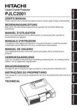 Buy Hitachi PJTX10E FI Manual by download Mauritron #225457