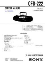 Buy Sony CFD-222 Manual by download Mauritron #229045