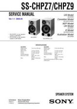 Buy Sony SS-CEX1-2 Service Manual. by download Mauritron #244656