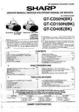 Buy Sharp QTCD50H-150H-40E -DE-FR Service Manual by download Mauritron #210240