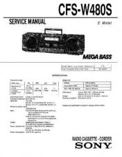 Buy Sony CFS-W475S Service Manual by download Mauritron #239026
