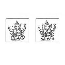 Buy Cufflinks Ganesha Hindu God Of Success Hinduism New Cuff Links