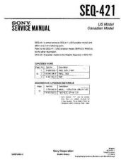 Buy Sony seq-411 Technical Manual. by download Mauritron #243883