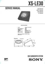 Buy Sony XS-LE30 Service Manual. by download Mauritron #246411