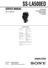Buy Sony SS-L100V Service Manual. by download Mauritron #244842