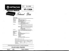 Buy Hitachi VY150A Service Manual by download Mauritron #265677