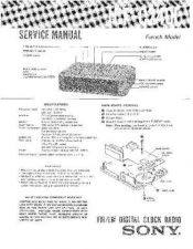 Buy Sony ICF-C212 Service Manual by download Mauritron #232112