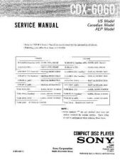 Buy Sony CDX-6060 Service Manual by download Mauritron #231704