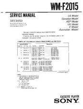 Buy Sony WM-F2015 Service Manual. by download Mauritron #245703