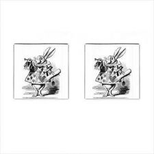 Buy White Rabbit Alice In Wonderland New Square Cufflinks