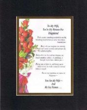 Buy Heartfelt & Touching Poem for Wife -11x14 Black-On-Gold Double-Beveled Matting