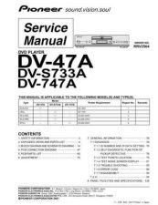 Buy Pioneer DV-747A-1 Service Manual by download Mauritron #234353
