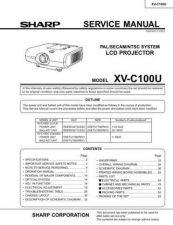 Buy Sharp XV-C10U Service Manual by download Mauritron #207710