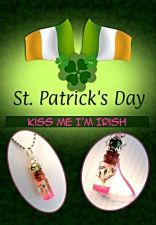 Buy Kiss Me I'm Irish Name On Rice necklace charm St Patricks Day gift