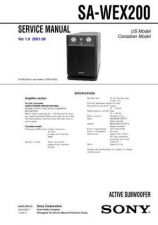 Buy Sony sa-w55x Technical Manual. by download Mauritron #243769
