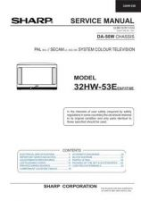 Buy Sharp 32HW53E (1) Service Manual by download Mauritron #207634