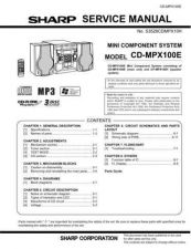 Buy Sharp CDMPX100E (1) Service Manual by download Mauritron #208644