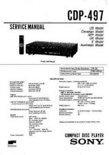 Buy Sony CDP-490 Service Manual by download Mauritron #237232