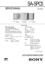 Buy Sony SA-SC8 Technical Manual. by download Mauritron #243714