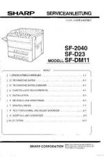 Buy Sharp SF2040-H PG GB-JP(1) Service Manual by download Mauritron #210486