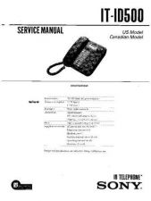 Buy Sony IT-ID20 Service Manual. by download Mauritron #241700
