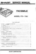 Buy Sharp FO700 SM DE(1) Service Manual by download Mauritron #208895