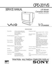 Buy Sony CPD-201VS Service Manual by download Mauritron #239274