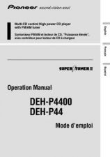 Buy Pioneer 49992 Operation manual DEH-P4400 20031171548339730 by download Mauritro