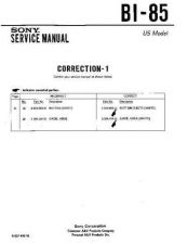 Buy Sony BI-85 Service Manual by download Mauritron #236868