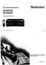 Buy Panasonic SAAX530 AX730 Operating Instruction Book by download Mauritron #2363