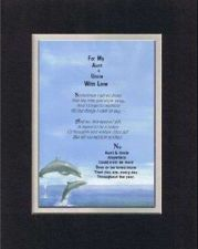 Buy Poem For My Aunt & Uncle with With Love . . . 11x14 BlackOnWhite DoubleMatting