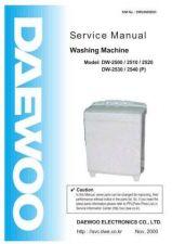 Buy Daewoo. DW2500SE03_2. Manual by download Mauritron #212970