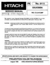 Buy Hitachi 55UX58B Service Manual by download Mauritron #263114