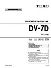 Buy Teac DV-7D Service Manual by download Mauritron #223704