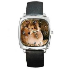 Buy Collie Dog Breed Photo Square Wrist Watch