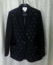Buy Women's JOYCE Black Blazer with Diamond Sequins Size 8