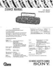 Buy Sony CFD-50 Service Manual by download Mauritron #231739