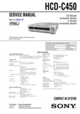 Buy Sony HCD-C450... Technical Information by download Mauritron #235668