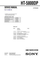 Buy Sony HT-5800DP Service Manual by download Mauritron #232077