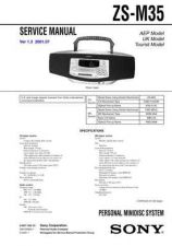 Buy Sony ZS-M35 service manual Service Manual by download Mauritron #246488